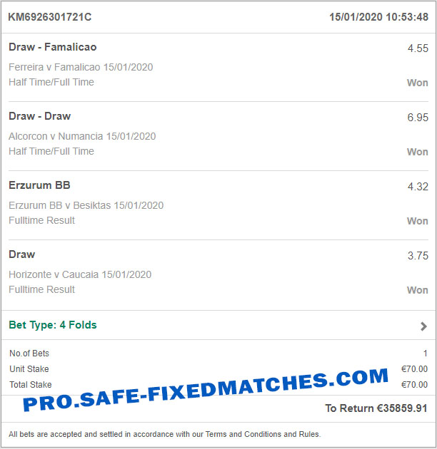 fixed bet matches